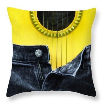 Rock And Roll Woman Throw Pillow