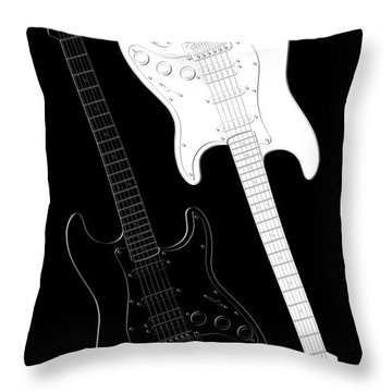 Rock And Roll Yin Yang Throw Pillow