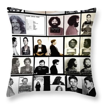 Rock And Roll's Most Wanted Throw Pillow