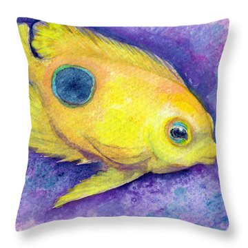 Rock Beauty Throw Pillow