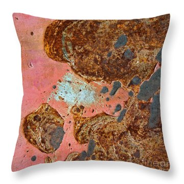 Rock Biter Abstract Square Throw Pillow
