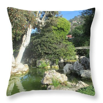 Stone Bridge Pond Throw Pillow