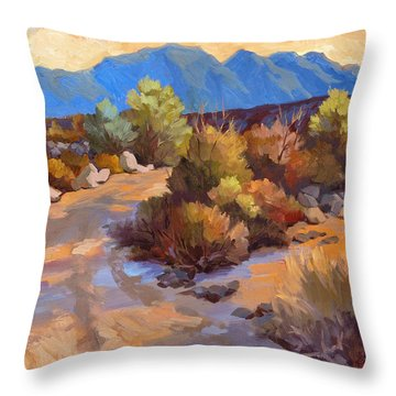 Rock Cairn At La Quinta Cove Throw Pillow
