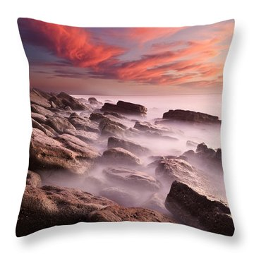 Rock Caos Throw Pillow by Jorge Maia