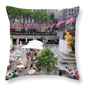 Rock Center Fourth Throw Pillow by Ed Weidman