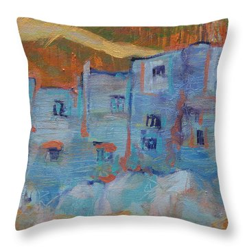 Rock City Abstract Throw Pillow