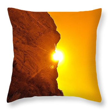 Rock Eclipse  Throw Pillow