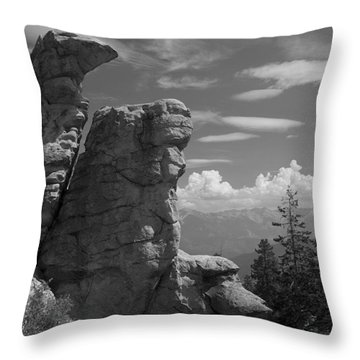 Throw Pillow featuring the photograph Rock Formation by Ivete Basso Photography