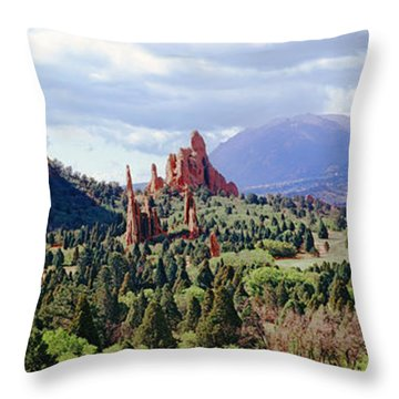 Rock Formations On A Landscape, Garden Throw Pillow by Panoramic Images