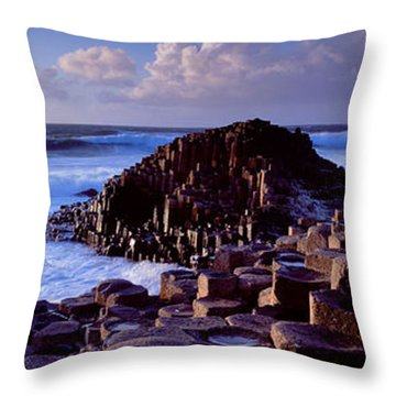 Rock Formations On The Coast, Giants Throw Pillow by Panoramic Images