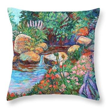 Rock Garden Throw Pillow by Kendall Kessler
