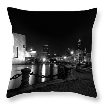 Rock Hall And Great Lakes Science Center Throw Pillow