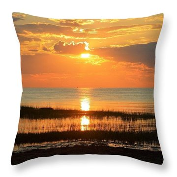Rock Harbor Twilight Throw Pillow