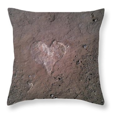 Rock Heart Throw Pillow