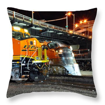 Rock Island Train Festival 2011 Throw Pillow