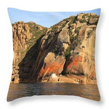 Rock Of Ages All Profits Go To Hospice Of The Calumet Area Throw Pillow