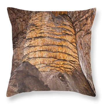 Rock Of Ages Carlsbad Caverns National Park Throw Pillow