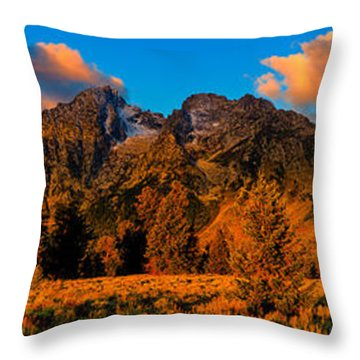 Rock Of Ages Panorama Throw Pillow by Greg Norrell