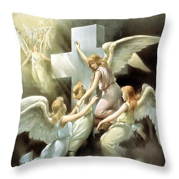 Rock Of Ages Throw Pillow by Terry Reynoldson