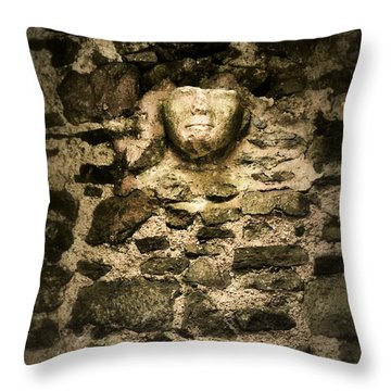 The Face In The Wall - Rock Of Cashel Throw Pillow