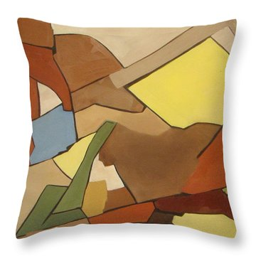 Rock Of Mages Throw Pillow by Patricia Cleasby