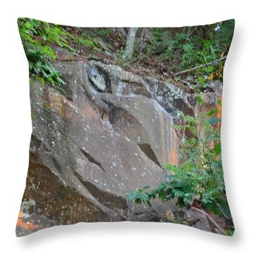 Rock On Hokie Bird Throw Pillow