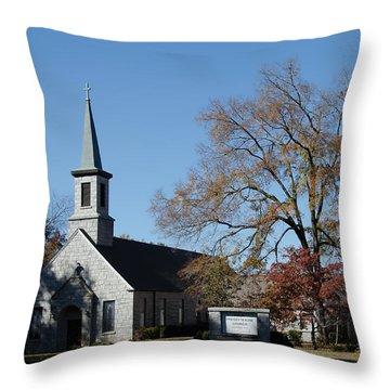 Rock Presbyterian Church Throw Pillow