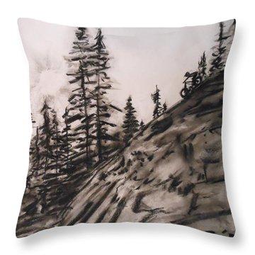 Rock Rider Throw Pillow