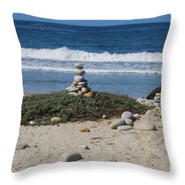 Rock Sculpture 2 Throw Pillow