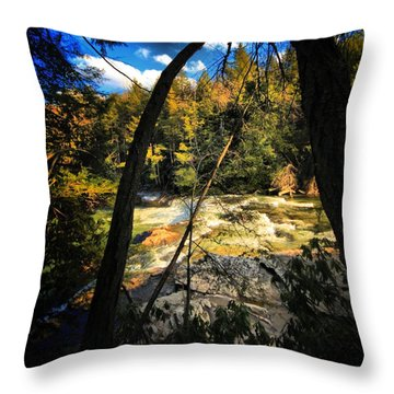 Rock Slide Throw Pillow