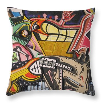 Rock Soggy Throw Pillow
