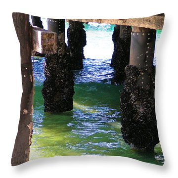 Throw Pillow featuring the photograph Rock Solid by Margie Amberge