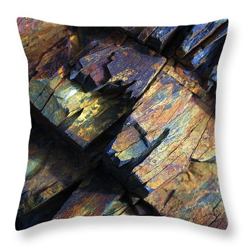 Throw Pillow featuring the photograph Rock Art 2 by ABeautifulSky Photography
