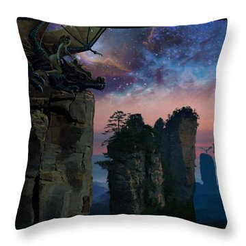 Rock Towers Throw Pillow