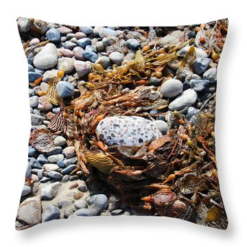 Rock Weed Throw Pillow