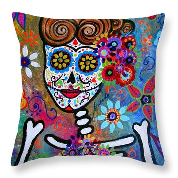 Rockabilly Frida Throw Pillow