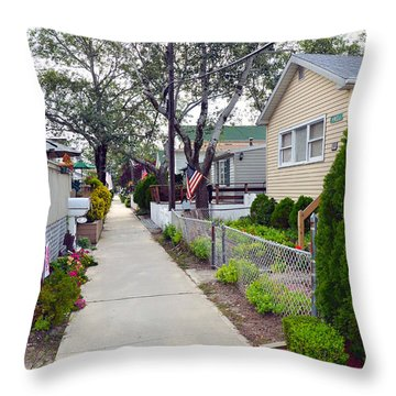 Rockaway Point Lane View 2 Summer 2012 Throw Pillow