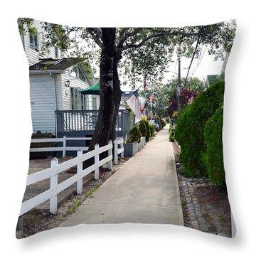 Rockaway Point Walk Summer 2012 Throw Pillow