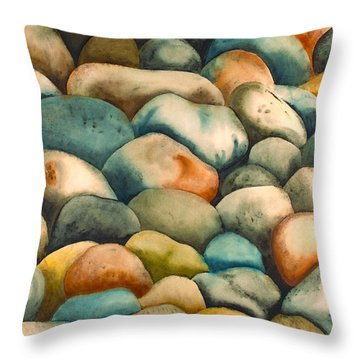 Rockbed In Natural Throw Pillow