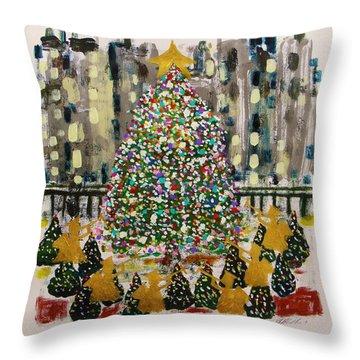 Rockefeller Center Throw Pillow