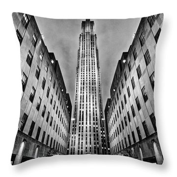 Rockefeller Centre Throw Pillow by John Farnan