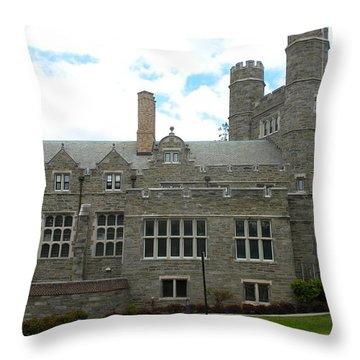 Rockefeller Hall Bryn Mawr Throw Pillow
