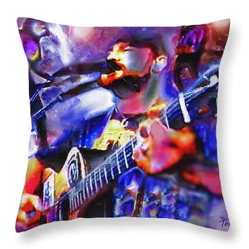 Throw Pillow featuring the painting Rocker by Ted Azriel