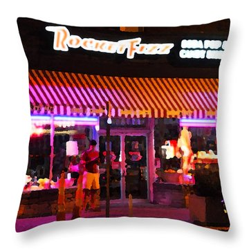 Rocket Fizz Throw Pillow