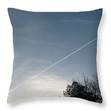 Throw Pillow featuring the photograph Rocket To The Stars by Michael Krek