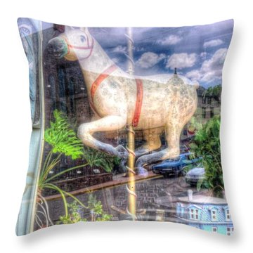 Throw Pillow featuring the photograph Rockey's Horse by Lanita Williams