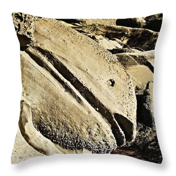 Throw Pillow featuring the photograph Rockfish by Nick Kloepping