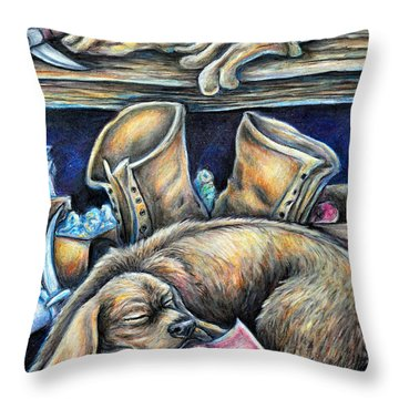 Rockhound Throw Pillow by Gail Butler