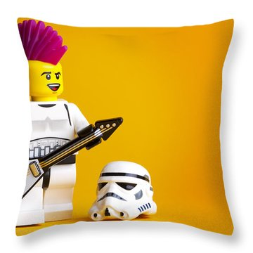 Rockin' Out Throw Pillow by Samuel Whitton