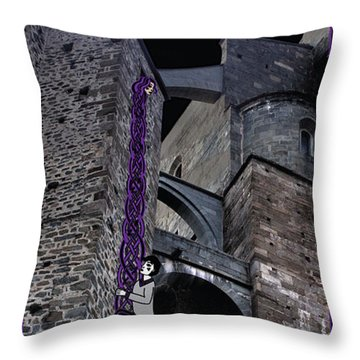 Rockin' Raven Celtic Rapunzel Throw Pillow